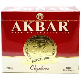 Чай черный Akbar Ceylon, 100 пакетиков