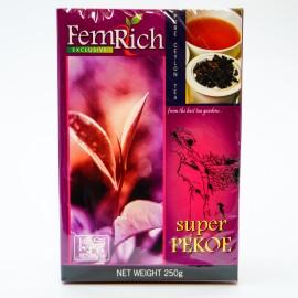 Черный чай FemRich Super Pekoe, 250г