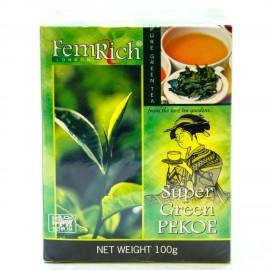 Зеленый чай FemRich Super Green Pekoe, 100г