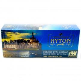 Черный и зеленый чай Hyton Премьер с саусепом, 25 пакетиков