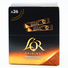 Кофе натуральный растворимый L'OR Original в стиках, 26 шт по 1,8 г