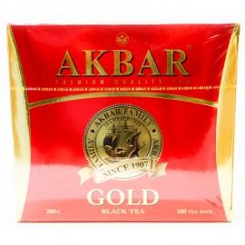 Чай черный Akbar Gold, 100 пакетиков