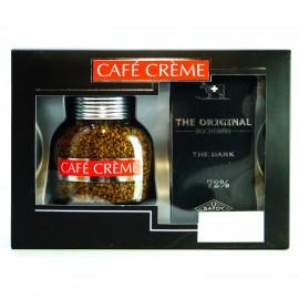 Подарочный набор кофе Cafe Creme 100г, шоколад Bucheron Dark 100г