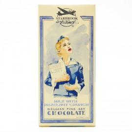 Шоколад Starbrook Airlines молочный с фундуком, 100г