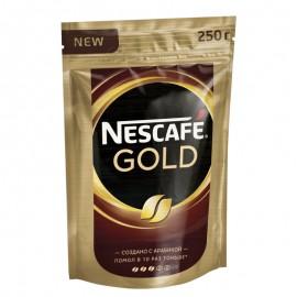 Кофе Нескафе Голд 250гр. Растворимый Сублимированный. Пакет