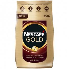 Кофе Нескафе Голд 750гр. Растворимый Сублимированный.  Пакет