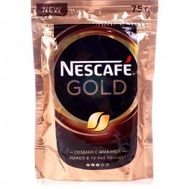 Кофе Нескафе Голд 75гр. Растворимый Сублимированный. Пакет
