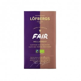 Кофе молотый Lofbergs FAIR Mellanrost (крепость-2)  450гр.
