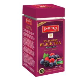 Impra чёрный чай с лесной ягодой 200гр. Ж/Б