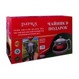 Impra Набор чёрный чай 500гр. + чайник в подарок