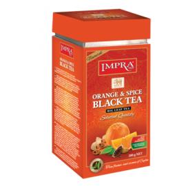 Impra чёрный чай с апельсином и пряностями 200гр. Ж/Б