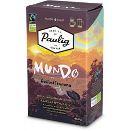 Кофе в зёрнах Paulig Mundo Reilusti Tumma 450гр. (крепость-4) Финляндия