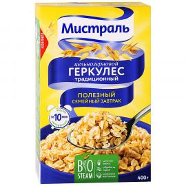 Хлопья Геркулес Традиционный цельнозерновой МИСТРАЛЬ 400гр. Горячий завтрак.
