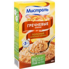 Хлопья Гречневые МИСТРАЛЬ 400гр. Горячий завтрак.