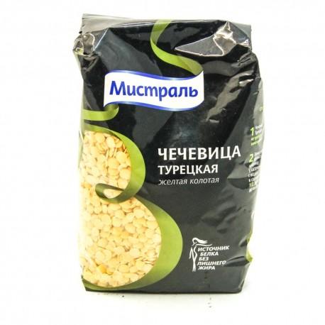 Чечевица Мистраль Турецкая , жёлтая колотая 450гр-12 (шт.)
