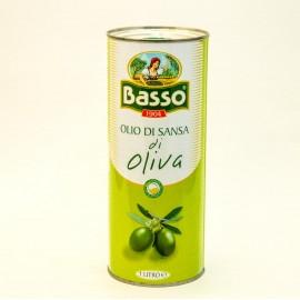 Масло оливковое Бассо  рафинированное 1л-20 (шт.)  Ж/Б