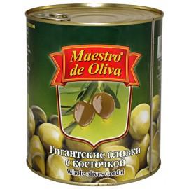 Оливки Маэстро гигантские с косточкой 420гр-24 (шт.)