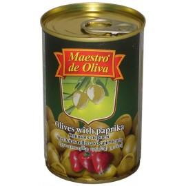 Оливки Маэстро с перцем 300гр-12 (шт.)
